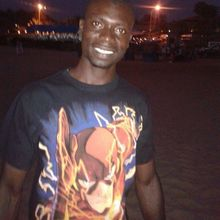 Man looking someone in Gambia #1